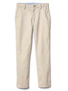 a325937fc Gap Girls Stain-Resistant Straight Khakis Beige School Uniform Girls,  Khakis, Welt Pocket
