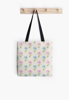'Flower Design' Tote Bag by Shane Simpson Poplin Fabric, Iphone Wallet, Cotton Tote Bags, Flower Designs, Shopping Bag, Stuff To Buy, Flower Line Drawings, Shopping Bags