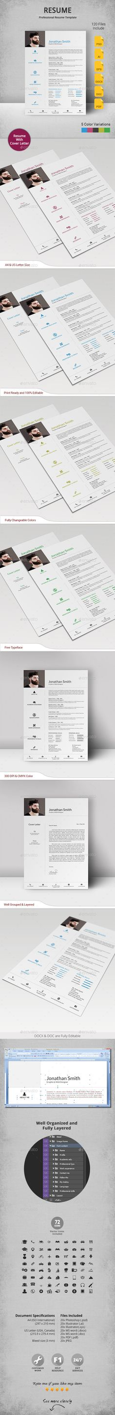 Beautiful resume template for MS Word by Original Resume Design - beautiful resume examples