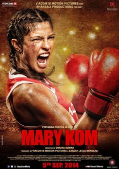 Check out Mary Kom Posters ! Mary Kom is an upcoming Indian biographical sports drama film directed by Omung Kumar and produced by Sanjay Leela Bhansali. Movies 2014, Top Movies, Movies To Watch, Movies Free, Drama Movies, Latest Movies, Priyanka Chopra, Bollywood Posters, Bollywood Songs