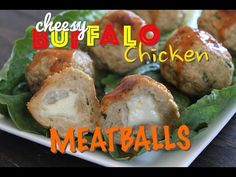 THE VULGAR CHEF - CHEESY Buffalo Chicken Meatballs - YouTube