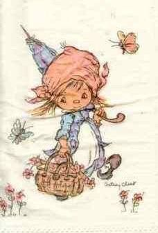 Rain a comin'? Hallmark Greeting Cards, Clark Art, Childhood Days, Holly Hobbie, Collectible Figurines, Christmas Images, Illustration Art, Vintage Illustrations, Vintage Cards