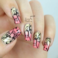 """2,242 Likes, 34 Comments - Nailart by Lucy's Stash (@lucysstash) on Instagram: """"Today I'm stamping! This is my newest nail art design combining gradient and stamping. I've also…"""""""