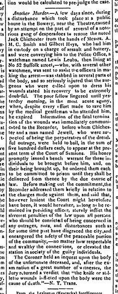 1836.4.16. Chichester Gang Raid. Unique? citation of Judges comments.
