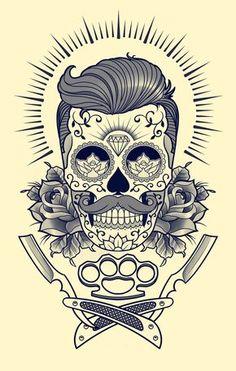 Tattoo sketches, tattoo drawings, sleeve tattoos, skull tattoos, body art t Skull Tattoos, Sleeve Tattoos, Cool Tattoos, Tattoo Sketches, Tattoo Drawings, Tattoo Bauch, Hirsch Tattoo, Barber Tattoo, Bike Drawing