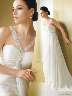Elianna Moore wedding dress 2011  - Baria crinkle chiffon wedding gown