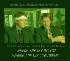 Hhahahha, James and Oliver on meeting their on-screen mother for the first time