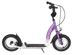 BIKESTAR® Original Safety Pro Sport Push Kick Scooter Kids with brakes, mudguard and air tires for age 7 year old children Sport Edition with Alloy Wheels 12 Inch Candy Lila Kick Scooter, Casual Jackets, Kids Sports, Alloy Wheel, Safety, Kicks, Wheels, Bicycle, Age