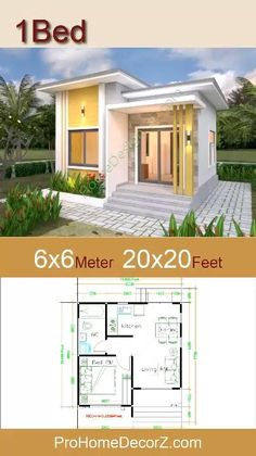 Flat House Design, Bungalow Haus Design, Modern Small House Design, Small Modern Home, Small Modern House Exterior, Micro House Plans, Small House Floor Plans, My House Plans, House Layout Plans