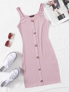 Really Cute Outfits, Cute Lazy Outfits, Pretty Outfits, Stylish Outfits, Girls Fashion Clothes, Teen Fashion Outfits, Cute Fashion, Girl Outfits, Ribbed Knit Dress