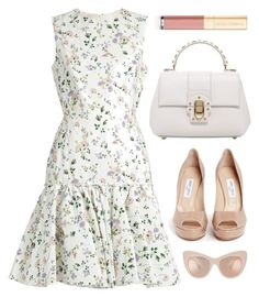 """Untitled #2137"" by fashionwwonderland ❤ liked on Polyvore featuring Giambattista Valli, Dolce&Gabbana and Jimmy Choo"