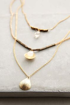 Halfshell Layered Necklace - anthropologie.com #anthrofave #anthropologie