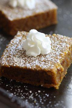 Pumpkin Pie Blondie Recipe | CatchMyParty.com