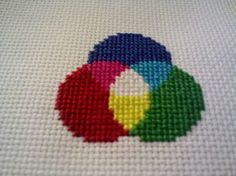 color spectrum cross stitch - This immediately made me think of my Pap-Pap.