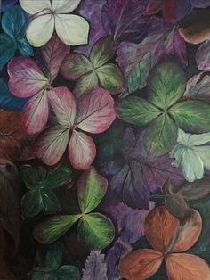 Fall colours, hydrangea original painting by Shauna Lea Baggs
