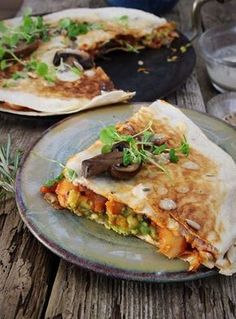 Spicy Bean, Mushroom & Avocado Quesadilla (Vegan & Gluten Free) | Rebel Recipes