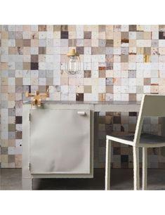 Scrap Wood Wallpaper Texture wood-textured wallpaper series by Dutch designer Piet Hein Eek. Wood Wallpaper, Unique Wallpaper, Chic Wallpaper, Luxury Wallpaper, Wallpaper Direct, Textured Wallpaper, Shabby Chic Tapete, Interiores Shabby Chic, Design Industrial