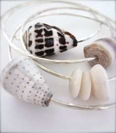 Shell Bracelets  Sterling silver Hawaiian shell by Tidepools, $40.00