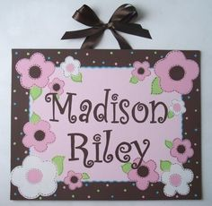 Hand Painted Name Canvas Art