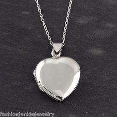 Two Photo Heart Locket Necklace - 925 Sterling Silver Heart Locket Necklace, Silver Pendant Necklace, Silver Necklaces, Sterling Silver Jewelry, Silver Ring, 925 Silver, Silver Earrings, White Gold Diamonds, Cross Pendant
