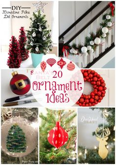20 handmade ornament ideas featured on iheartnaptime.net