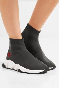 Balenciaga | Speed stretch-knit high-top sneakers | NET-A-PORTER.COM