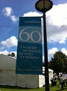 University of Southampton 60th Campaign banner material is re-used to create the eco-friendly bags.