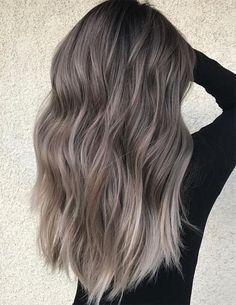 Dimensional Silver Blonde Balayage Long Hairstyle Ideas 2018