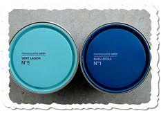 déco pot de peinture bleu turquoise