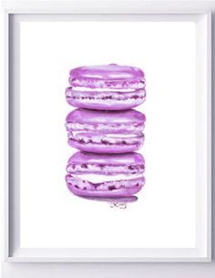 Macarons Laduree  PRINT by LauraFungArt on Etsy