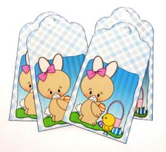 4 Easter Bunny or Rabbit Paper Cardstock Hang by buttonsbyrobin, $2.99