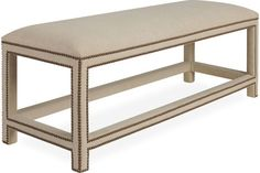 Main Level Guest Bed End Bench Lee Industries 9219-90 Ottoman