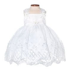 Nancy August White Flower Girl Dress with Eyelet Lace, Girls Dress White [categoryname]