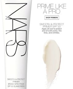 NARS: From prime to sublime. Mattifying Primer, Primers, Broad Spectrum, Sunscreen, Coupon Codes, Nars, How To Apply, Coding, Shop