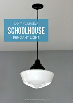 Schoolhouse Pendant Light & Schoolhouse light...for the school room. Lowes $33. Now weu0027re talkin ...