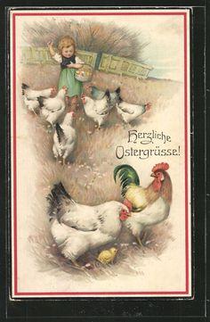 Vintage postcard♥♥.  Happy Easter