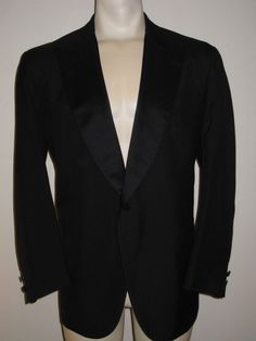 Men's Brooks Brothers Tuxedo - Black - One Button - Jacket 40R - Pants 40x30 #BrooksBrothers  #tuxedo #wedding #prom