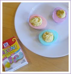 Been There. Done That.: pastel devil eggs