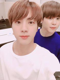 Jimin and Jin Bts twitter update