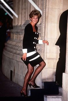 The Princess of Wales attends a tribute concert for Sammy Davis Jr. at the Royal Albert Hall on 23rd June 1992.: