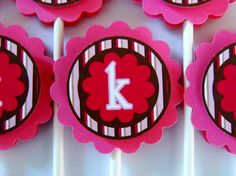 pink+and+brown+birthday+cupcake+by+simplysweetpartyshop+on+Etsy,+$22.00