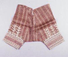 Bagobo   Man's Trousers  Warp Ikat, Applique, Embroidery, Abaca Fiber Filipiniana, Mindanao, Men Trousers, Sisal, So Little Time, Patterned Shorts, Hemp, Vintage Photos, Philippines