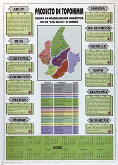 [Equipo de Normalización Lingüística do IES Félix Muriel de Rianxo, 2004] Map, Nail, Santiago De Compostela, Libraries, Location Map, Maps