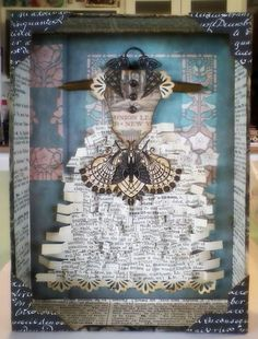 whimsical crafting with books - fun idea for a children's collage w/text from old/worn books (tag sales & 'buck a bag' library sales)