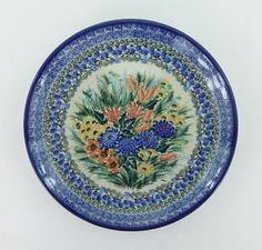 Unikat Starzyk Polish Pottery Serving Plate - Made in Poland - This decorative plate is perfect for the holidays which are right around the corner! Order today from #GreatSkGifts on #eBay - http://www.ebay.com/itm/Unikat-Starzyk-Polish-Pottery-Dinner-Plate-Boleslawiec-Stoneware-3998-Poland-/361061516051?pt=LH_DefaultDomain_0&hash=item5410f18313