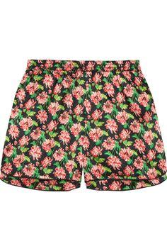 Stella McCartney - Ellie Leaping floral-print stretch-silk pajama shorts cbb816a40