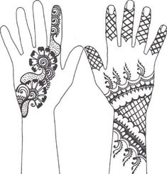 Classy Mehndi Designs For Hands Step By Step - Craft Community Henna Hand Designs, Henna Tattoo Designs Simple, Beginner Henna Designs, Mehndi Designs Book, Modern Mehndi Designs, Mehndi Designs For Girls, Mehndi Simple, Arabic Mehndi Designs, Tattoo Henna