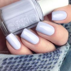 Soft Blue Hues - 20 Manicure Ideas to Try This Winter When Everything Else is Boring - Photos