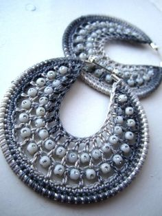crocheted earrings #crochet #earrings