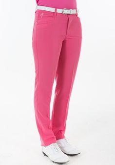 #Pantalón de golf mujer.Fabricado en tejido Heat Swing. 2 bolsillos laterales y 2 traseros Tejido de gran elasticidad proporciona una total libertad de movimientos Logotipo Polo Swing bordado Tallas: 36, 38, 40, 42, 44, 46.